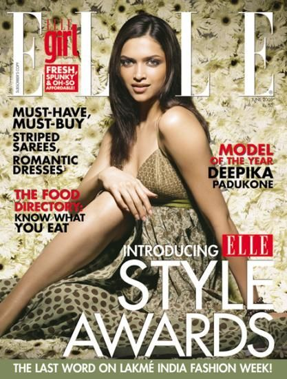 Deepika in the cover page of fashion week