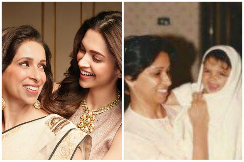 Deepika with her Mother