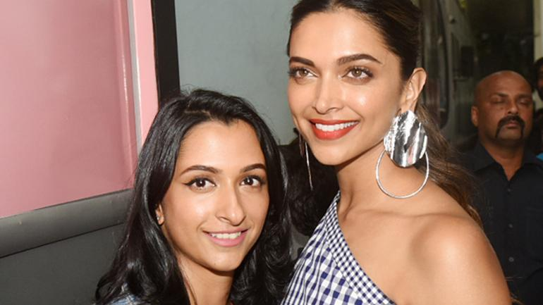 Deepika with her sister