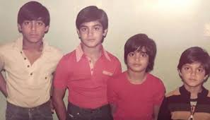 Young Salman Khan and brothers