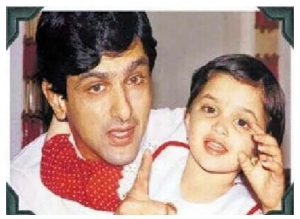 Young Deepika Padukone with her Father