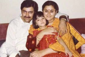 Young Kriti Sanon with her Parents