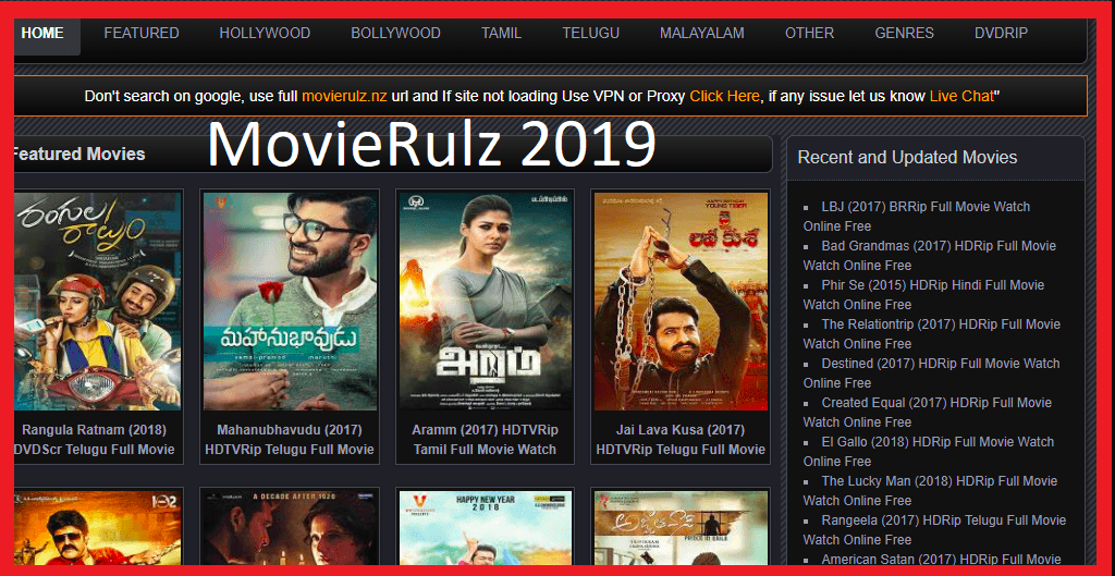 Who downloads or watch movies online? MovieRulz 2019