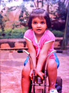 Young Deepika Padukone in her tricycle