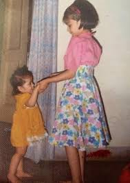 Young Kriti Sanon with her younger Sister