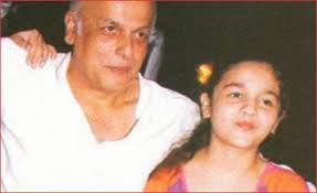 Young Alia Bhatt with her father