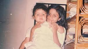 Young Alia Bhatt with her sister