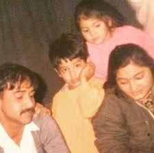 Young Anushka Sharma with her family