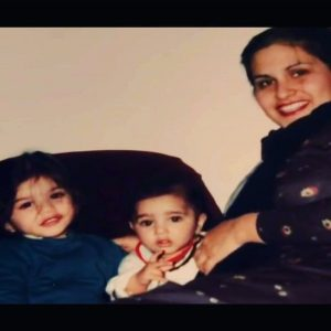 Sunny Leone with her Mother and Brother
